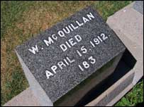 The film showed William McQuillan's grave in Canada