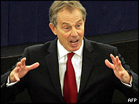 Tony Blair in the European Parliament