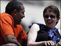 Tanni Grey Thompson with Daley Thompson