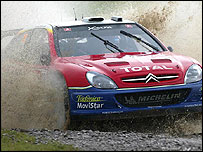 Sebastien Loeb in his Citroen