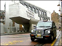 Taxi outside Holyrood