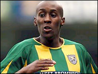 Lloyd Dyer in action for West Brom