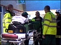 Stretcher taken into Liverpool Central Station