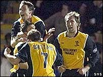 Livi celebrate Robert Snodgrass's equaliser