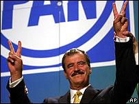 Presidente de México, Vicente Fox, cuando era candidato.