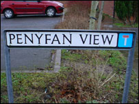 Penyfan View sign