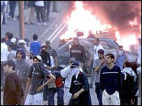 Rioting in Bradford
