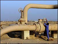 An oil pipeline in Iraq
