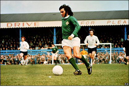 George Best won 37 international caps for Northern Ireland