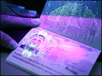 A new British biometric European Union passport,