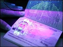A new British biometric European Union passport,