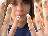 Burberry checked nails