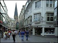 Shoppers in Bonn, Germany