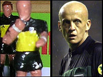 Pierluigi Collina - Subbuteo figure and the real thing