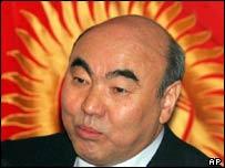Kyrgyz President Askar Akayev, Feb 2005