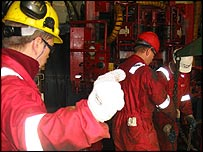 Workers at Sakhalin Energy