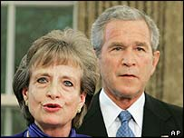 Harriet Miers and President George W Bush