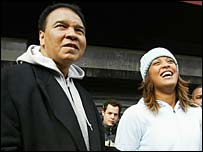 Muhammad Ali and his daughter Laila