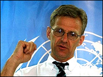 UN Emergency Relief Co-ordinator, Jan Egeland