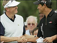 Colin Montgomerie and Michael Campbell