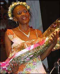 Miss HIV Stigma Free 2005 Cynthia Leshomo (Botswana)
