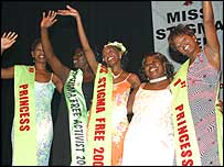 Cynthia and other contestants at Miss HIV Stigma Free 2005
