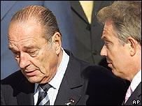Jacques Chirac and Tony Blair