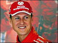 Reigning world champion Michael Schumacher