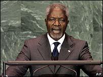 UN General Secretary Kofi Annan