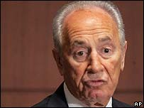 Israeli Deputy Prime Minister Shimon Peres