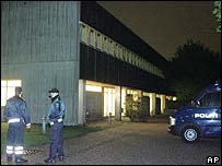 Court building where the four suspects were held in Glostrup, Denmark