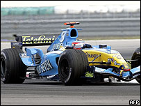 Fernando Alonso in action at the Malaysian Grand Prix