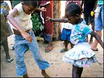 Orphans in Mozambique dancing (Sent in by BBC News website reader Katie Clayton)