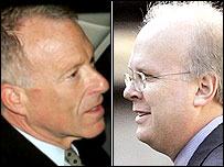 Lewis Libby (L) and Karl Rove