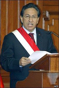 El presidente de Perú, Alejandro Toledo