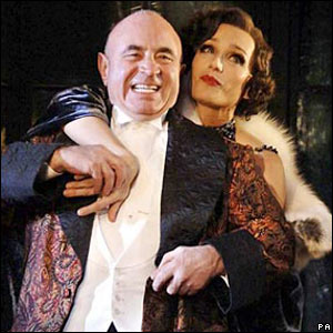 Bob Hoskins and Kristin Scott Thomas in As You Desire Me at London's Playhouse theatre
