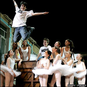Cast of Billy Elliot - The Musical (photocall), showing at the Victoria Palace theatre, London