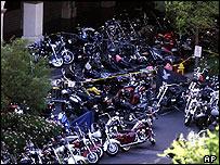 Bikes outside the casino