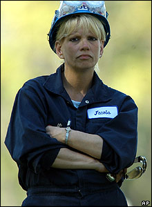Refinery employee waits for news