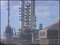 Texaco oil refinery