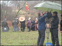 Filming of The Baron