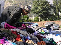 Unwanted clothes by the roadside