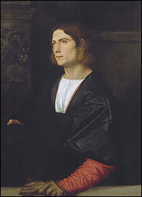 Portrait of a Young Man by Titian, permission to use granted by National Gallery