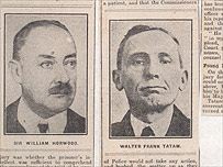 Sir William Horwood (left) and Walter Tatam (right) from the Pall Mall Gazette