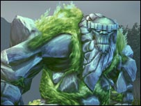 Screenshot of stone giant from World of Warcraft, Blizzard