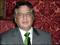 Peruvian Foreign Minister Manuel Rodriguez
