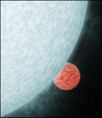 Extrasolar planet slips behind star (Nasa/JPL-Caltech/R. Hurt SSC)