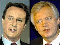 David Cameron and David Davis