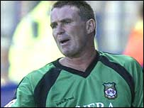 Wrexham goalkeeper Andy Dibble