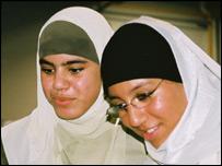 Students of Delacroix: Khadidja (left) and Iptiseim (right)